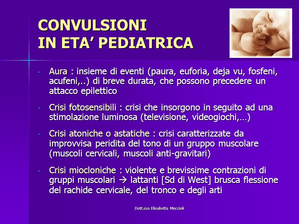 CONVULSIONI IN ETA' PEDIATRICA