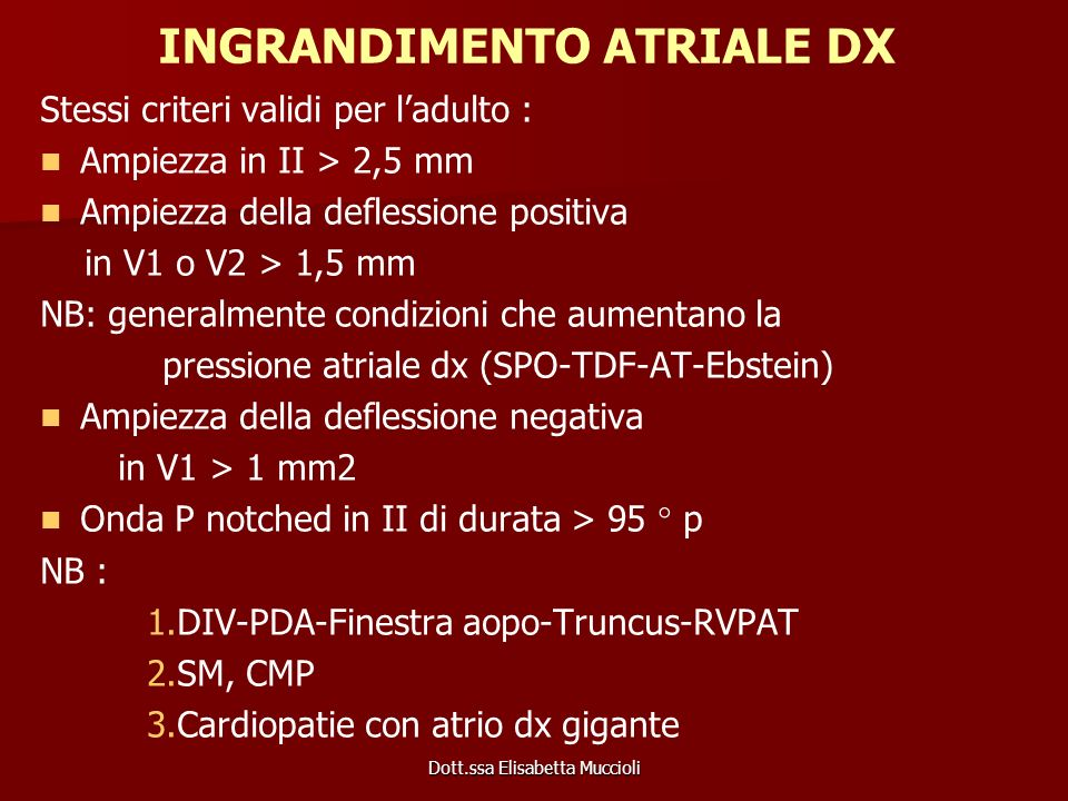 INGRANDIMENTO ATRIALE DX