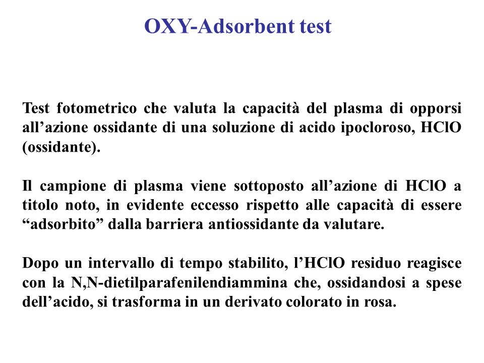 OXY-Adsorbent test