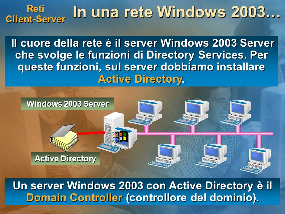 Reti Client-Server In una rete Windows 2003…