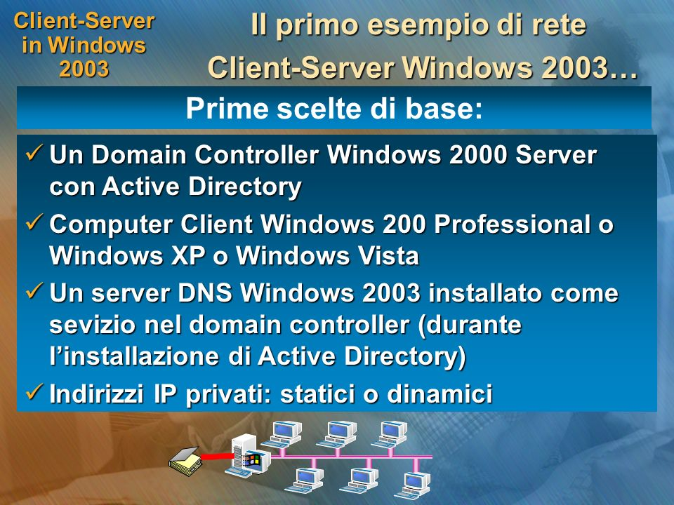 Client-Server in Windows 2003