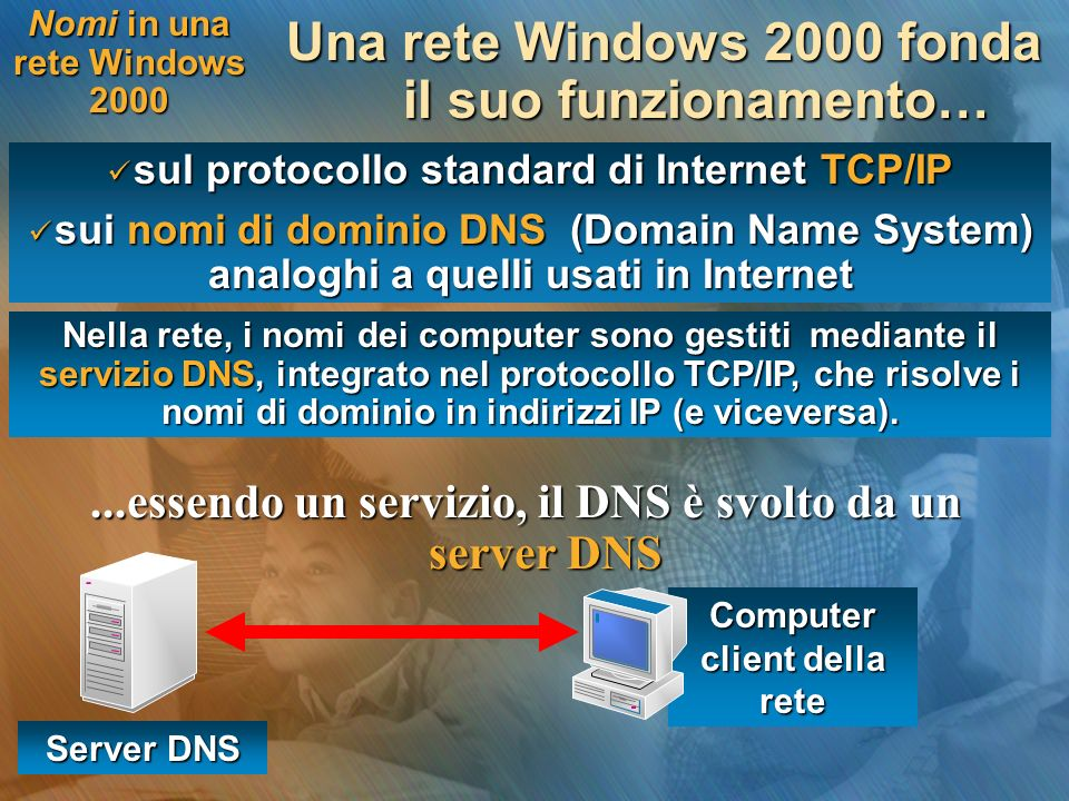Nomi in una rete Windows 2000