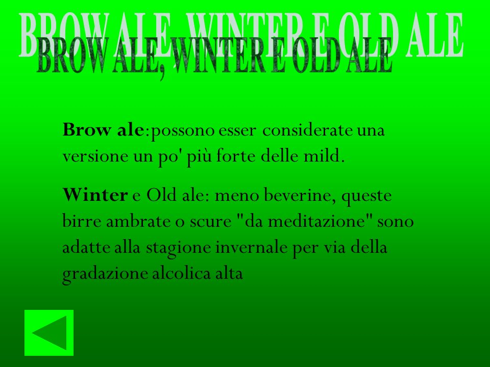 BROW ALE, WINTER E OLD ALE