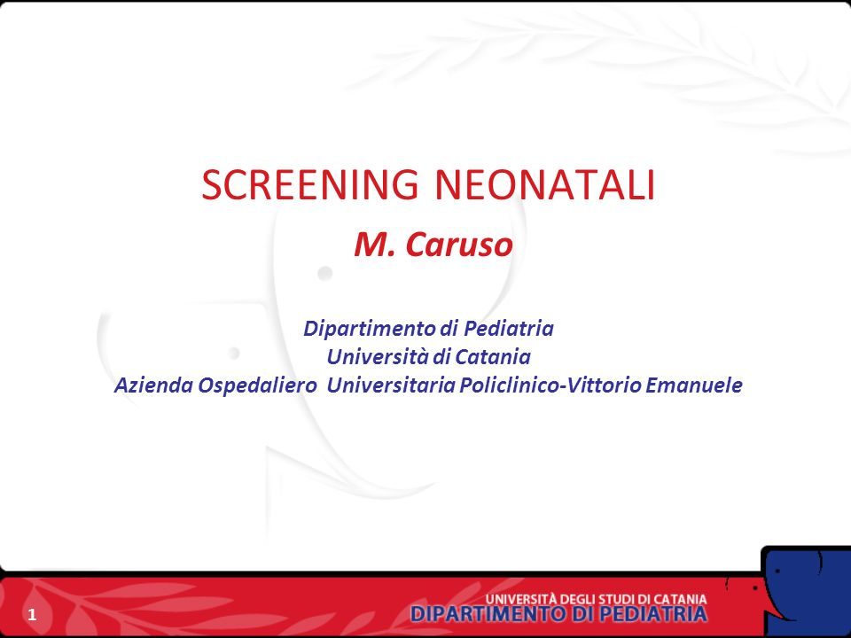 SCREENING NEONATALI M.