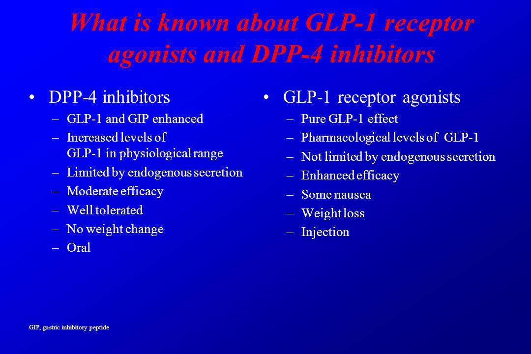 What is known about GLP-1 receptor agonists and DPP-4 inhibitors