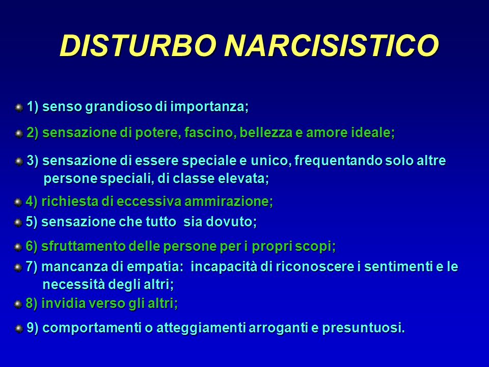 DISTURBO NARCISISTICO