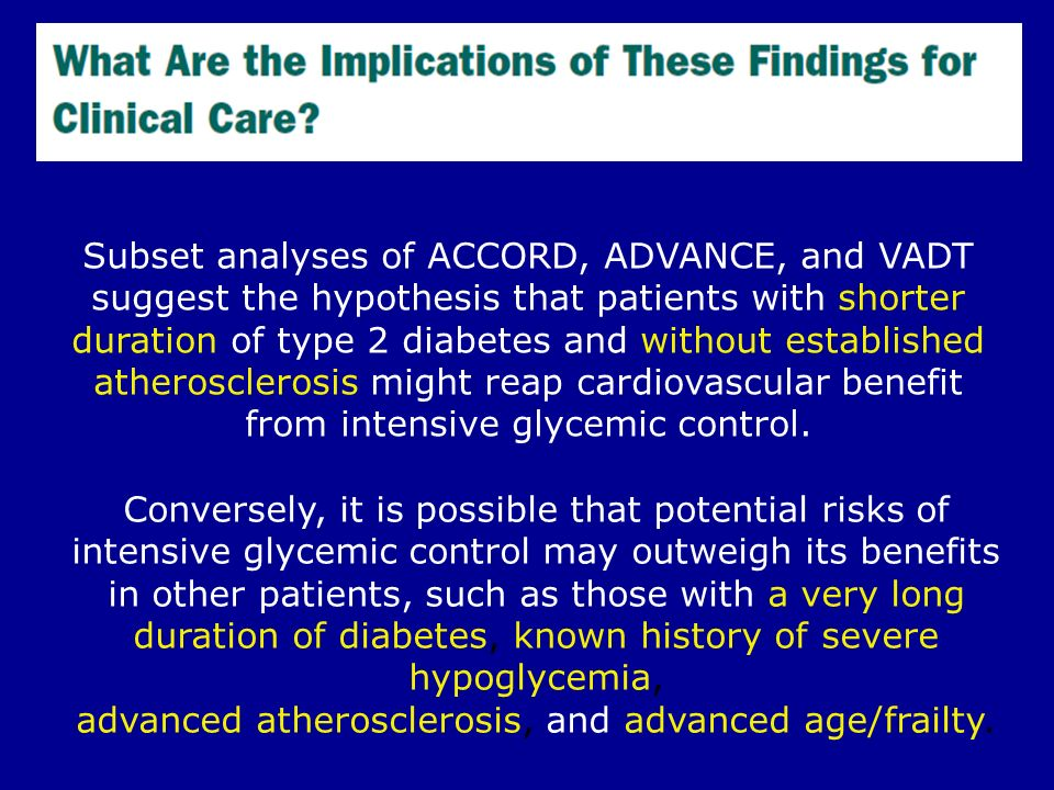 advanced atherosclerosis, and advanced age/frailty.