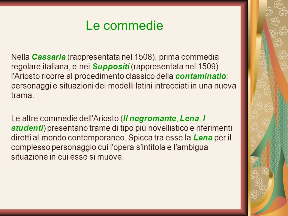 Le commedie