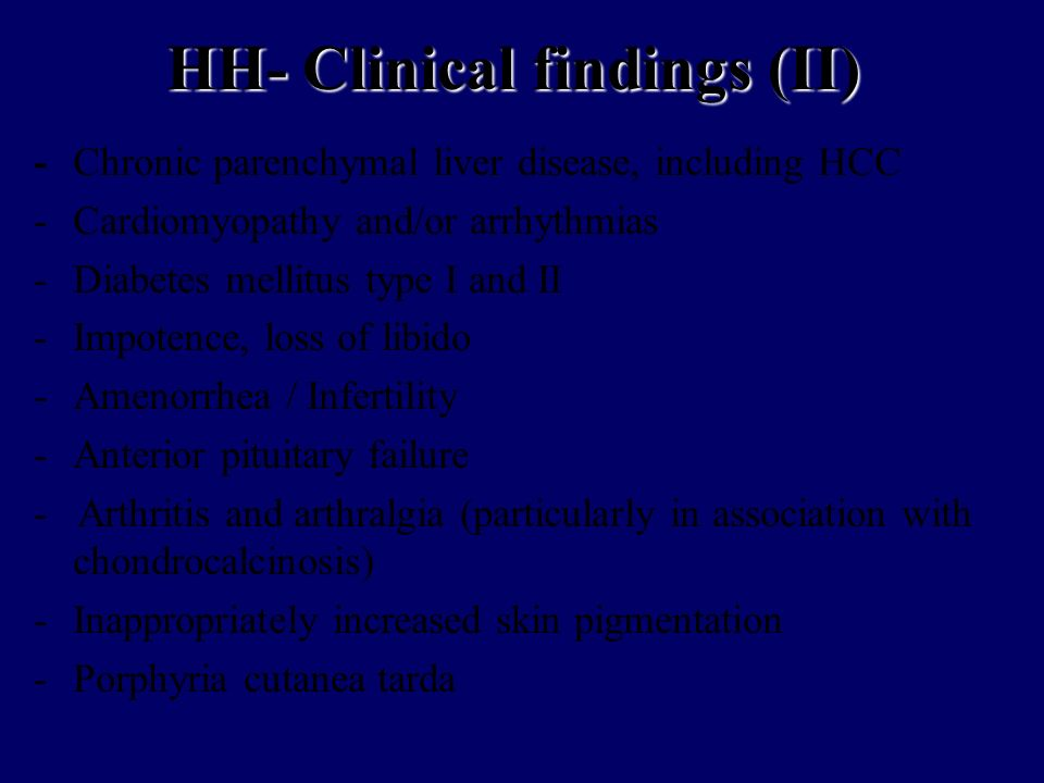 HH- Clinical findings (II)