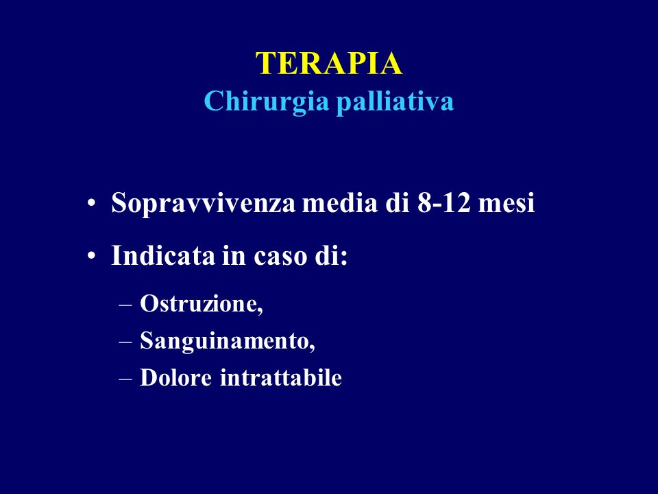 TERAPIA Chirurgia palliativa