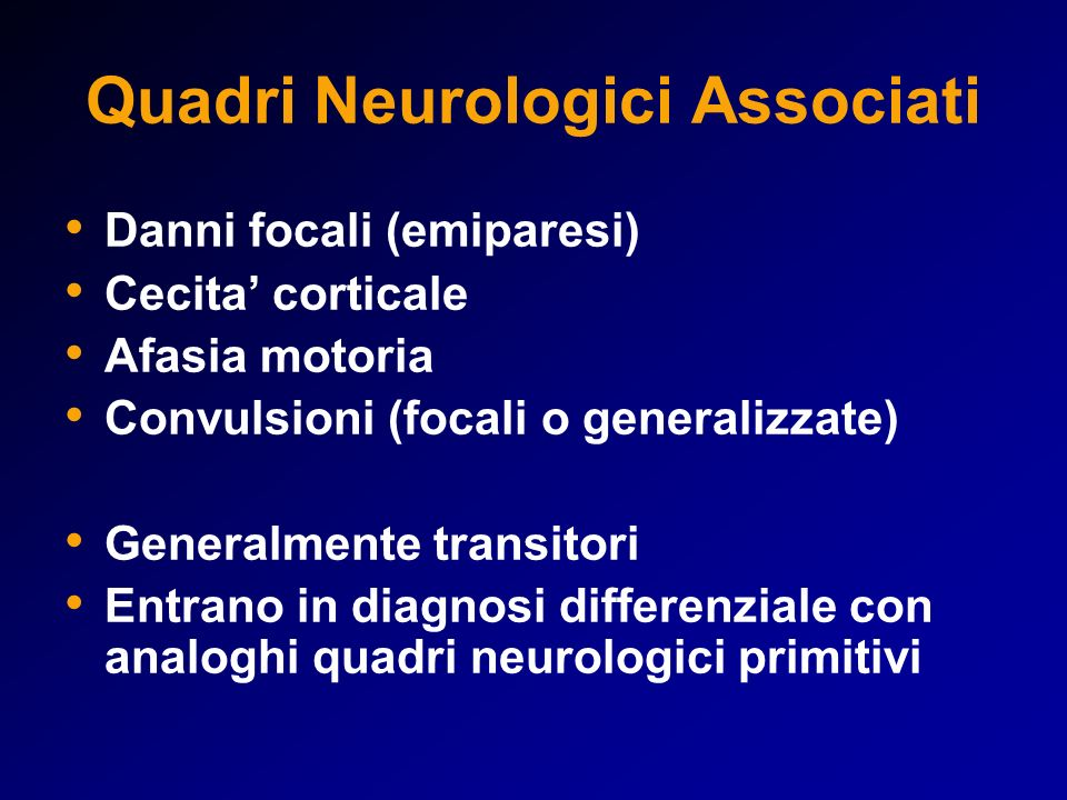 Quadri Neurologici Associati