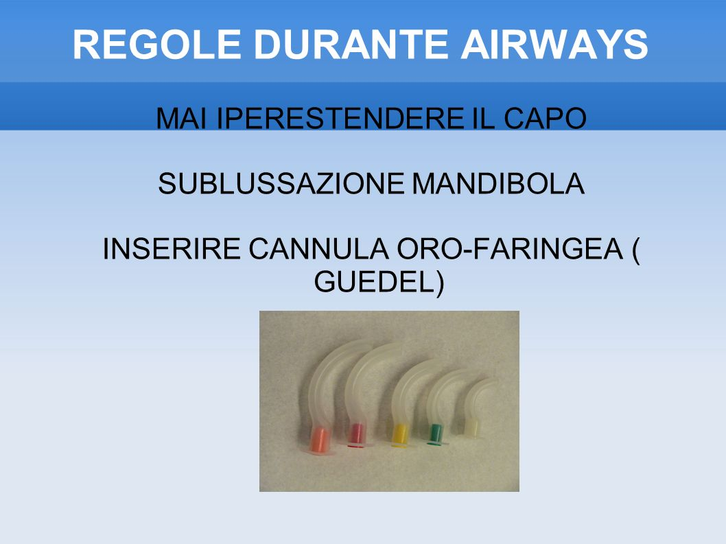REGOLE DURANTE AIRWAYS