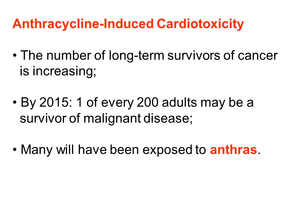 Anthracycline-Induced Cardiotoxicity