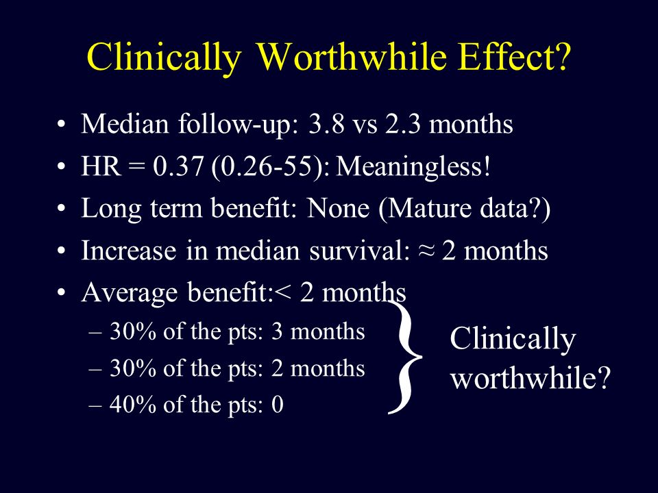 Clinically Worthwhile Effect