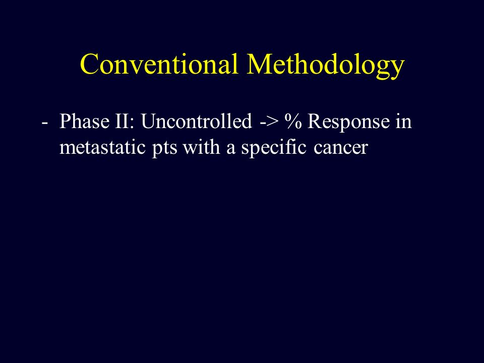 Conventional Methodology