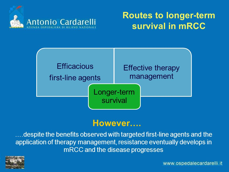 Routes to longer-term survival in mRCC