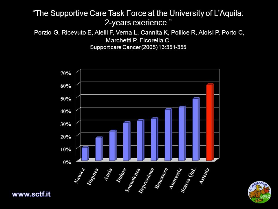 The Supportive Care Task Force at the University of L'Aquila: