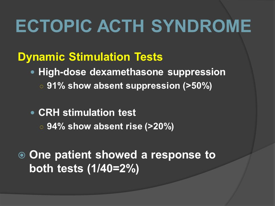 ECTOPIC ACTH SYNDROME Dynamic Stimulation Tests