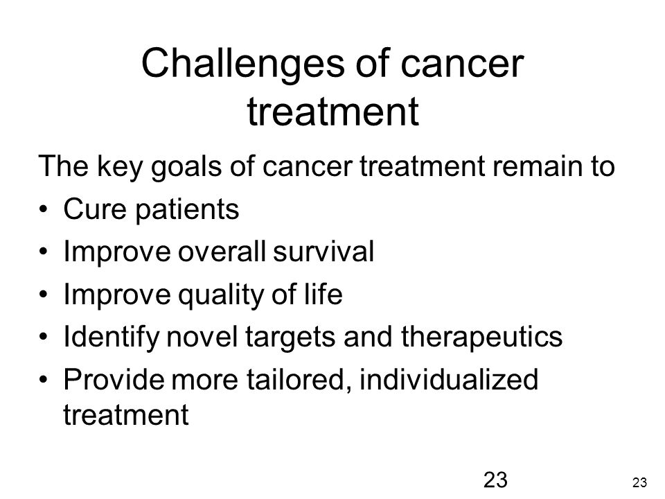 Challenges of cancer treatment