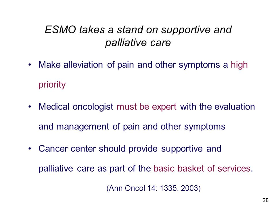 ESMO takes a stand on supportive and palliative care
