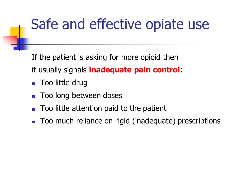 Safe and effective opiate use