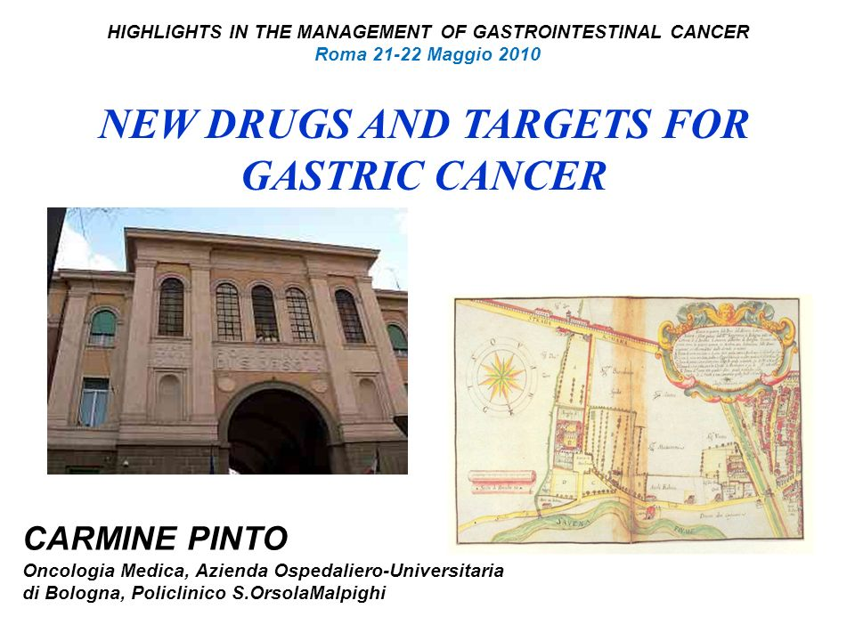 NEW DRUGS AND TARGETS FOR GASTRIC CANCER