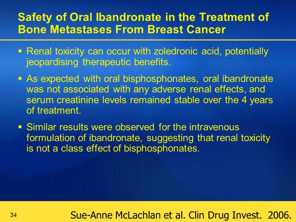 Safety of Oral Ibandronate in the Treatment of Bone Metastases From Breast Cancer