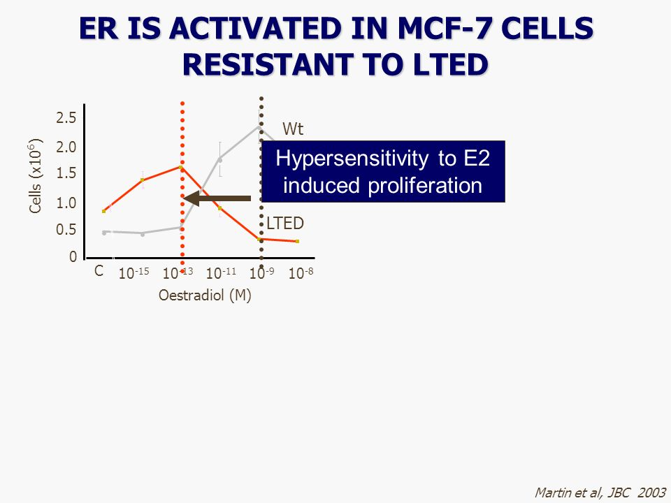 ER IS ACTIVATED IN MCF-7 CELLS RESISTANT TO LTED