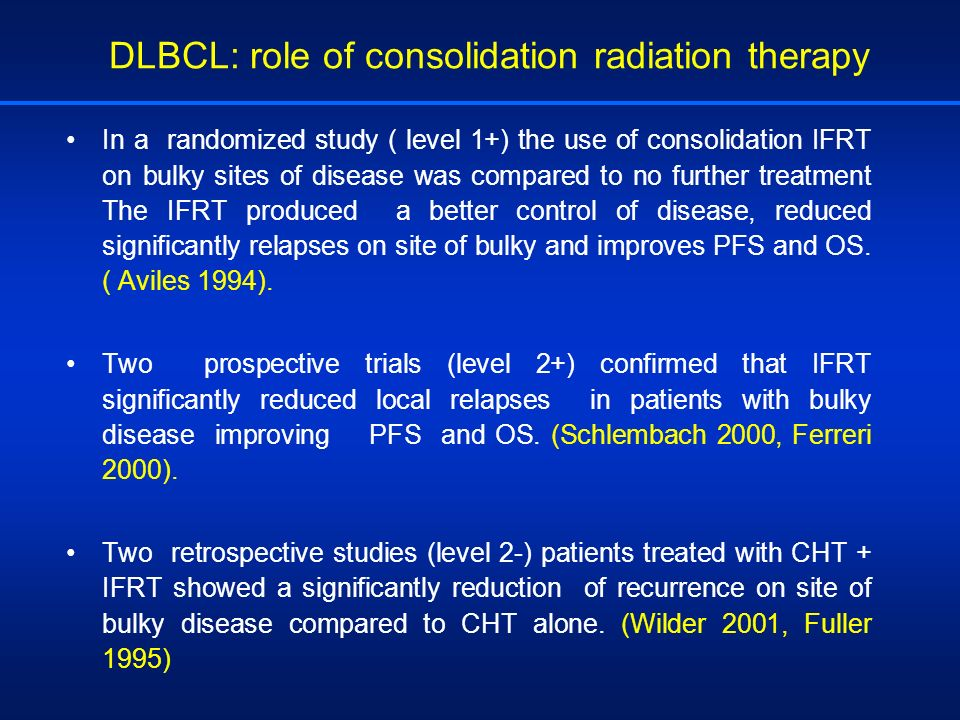 DLBCL: role of consolidation radiation therapy