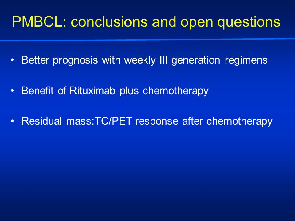PMBCL: conclusions and open questions