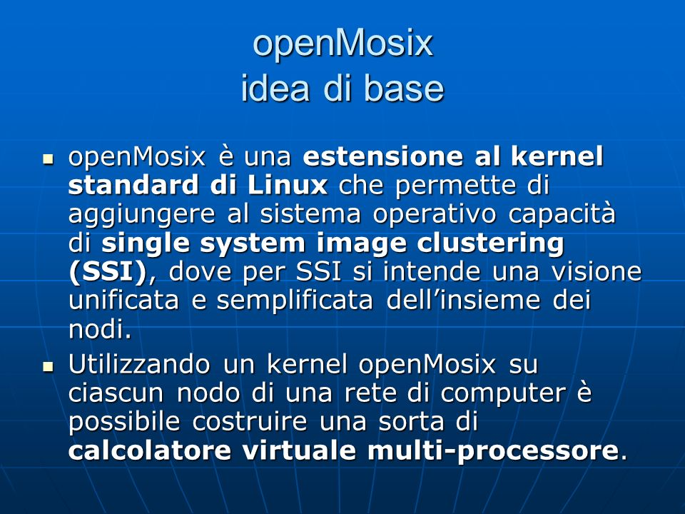 openMosix idea di base