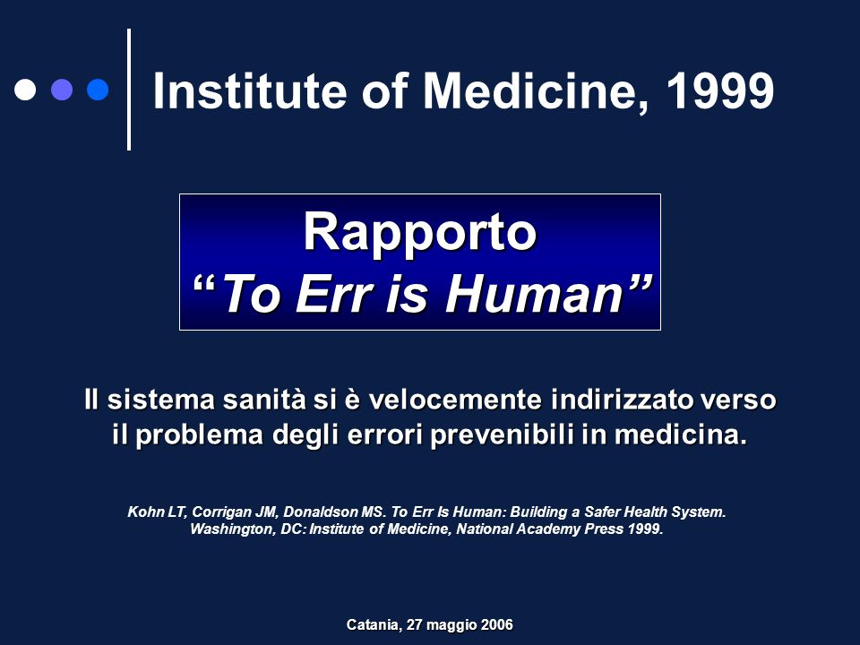 Rapporto To Err is Human