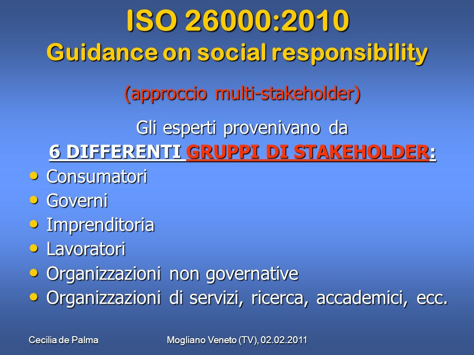 ISO 26000:2010 Guidance on social responsibility