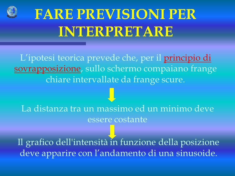 FARE PREVISIONI PER INTERPRETARE