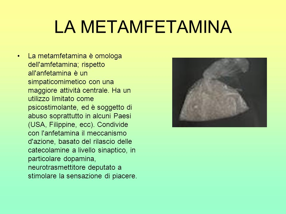 LA METAMFETAMINA