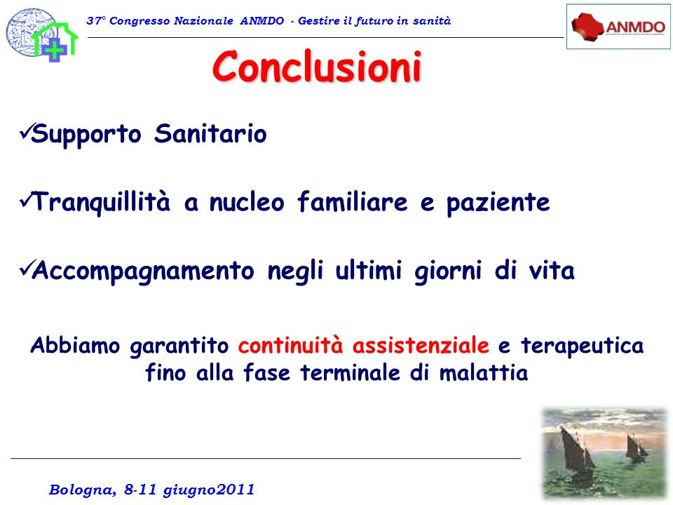 Conclusioni Supporto Sanitario