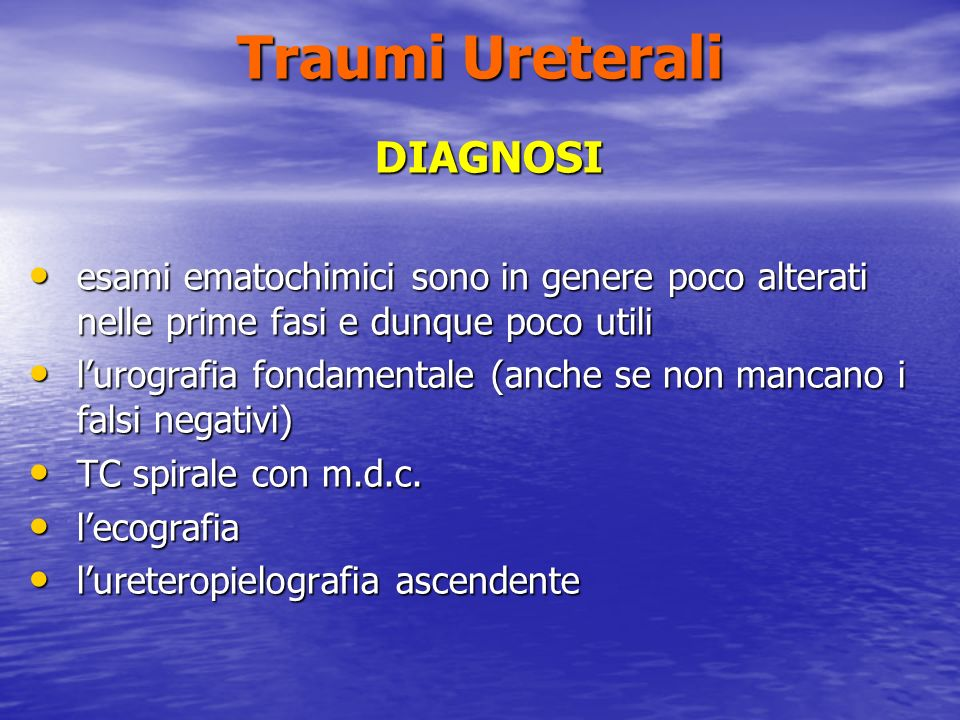 Traumi Ureterali DIAGNOSI