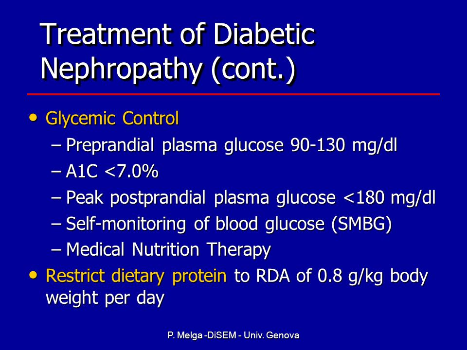 Treatment of Diabetic Nephropathy (cont.)