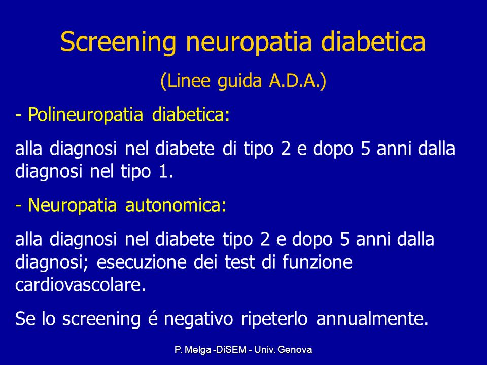 Screening neuropatia diabetica