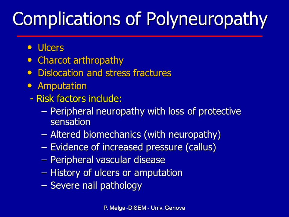 Complications of Polyneuropathy