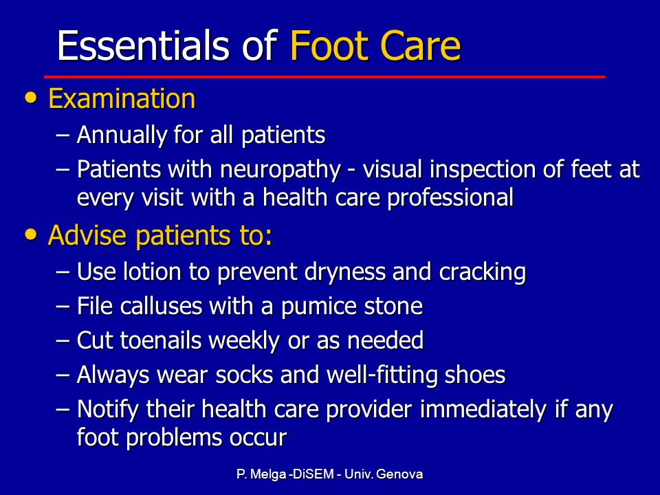 Essentials of Foot Care