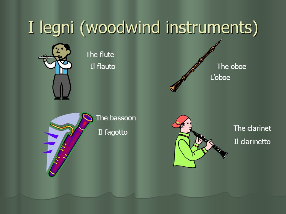 I legni (woodwind instruments)
