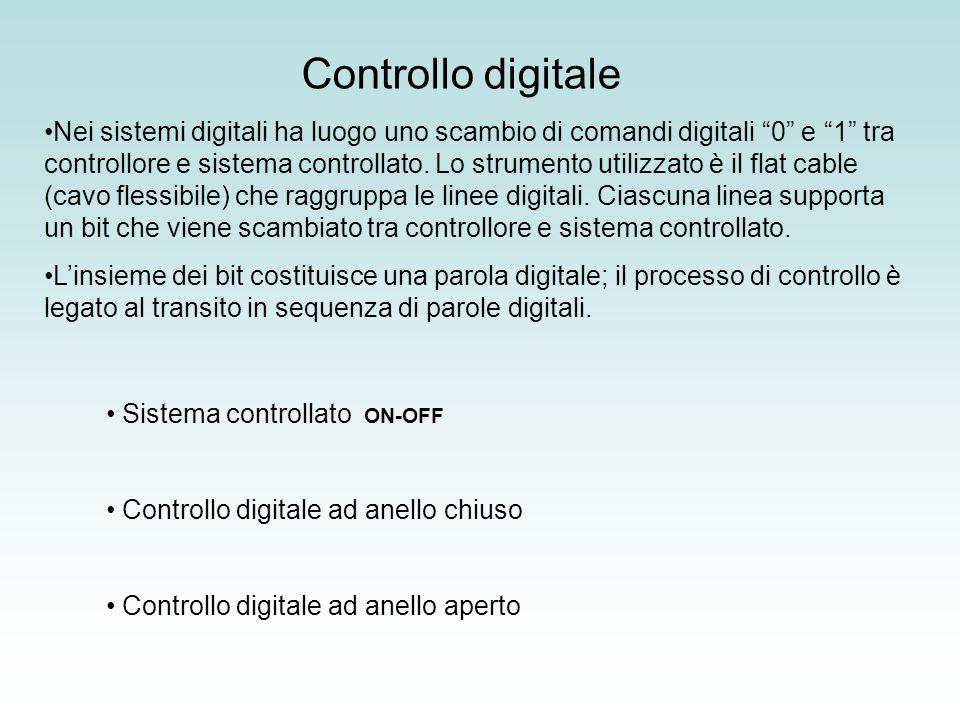 Controllo digitale ON-OFF