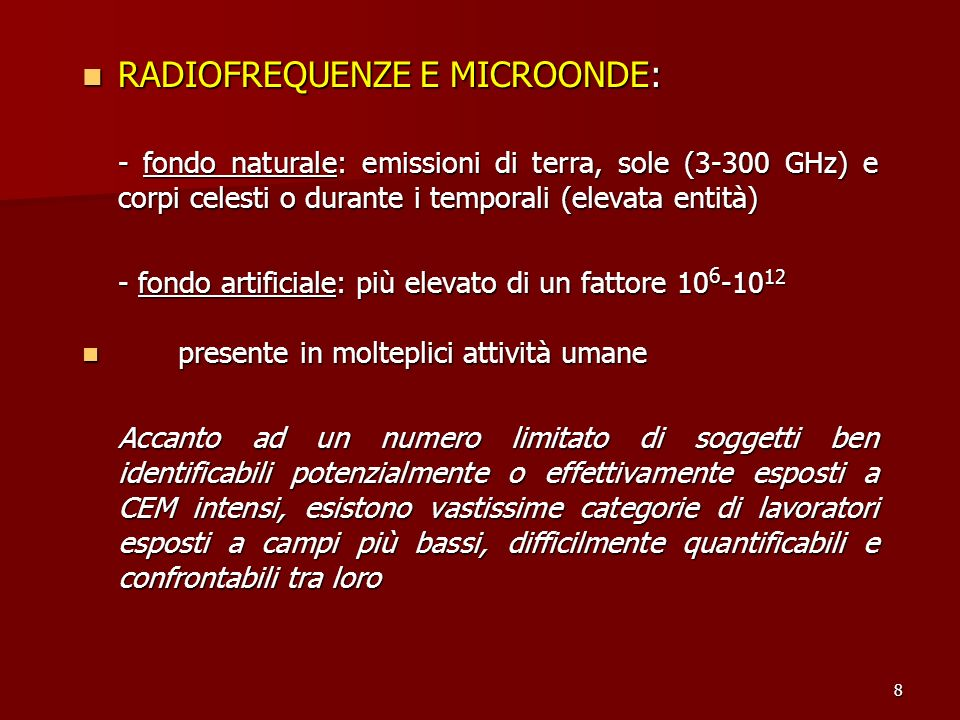 RADIOFREQUENZE E MICROONDE: