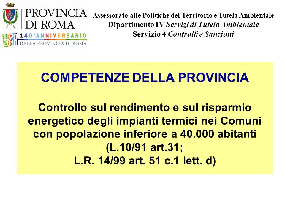 Provincia di Roma - Dip. IV Servizio 4 - ppt scaricare
