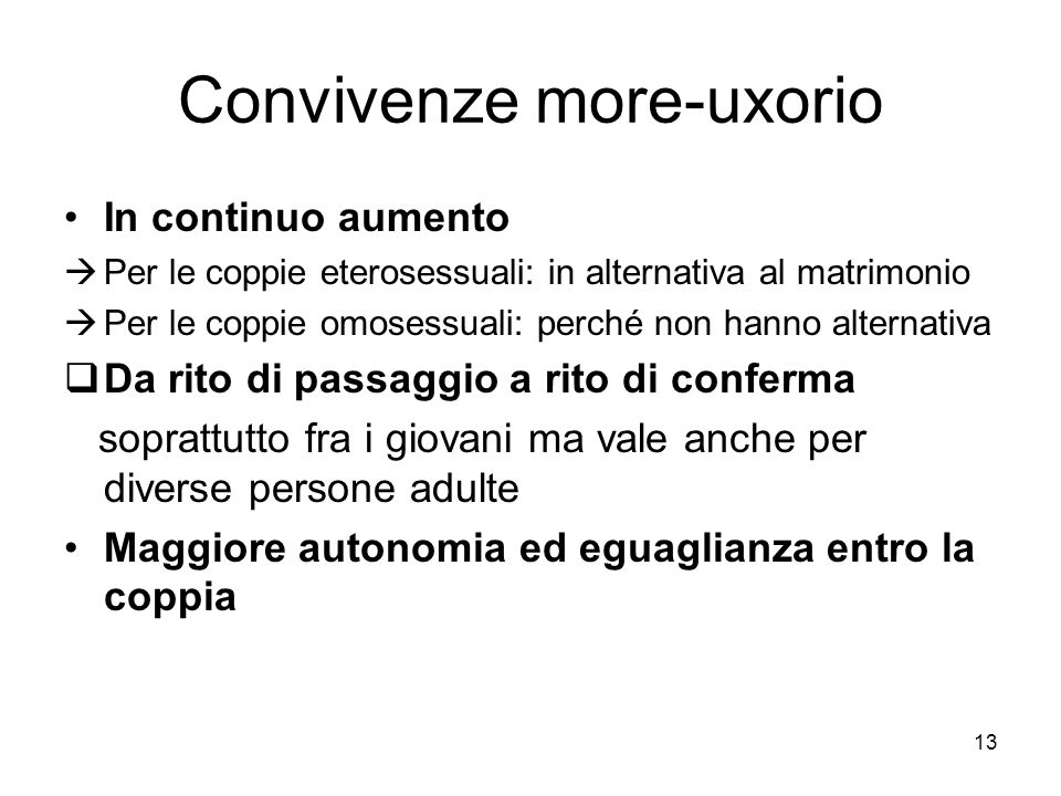 Convivenze more-uxorio