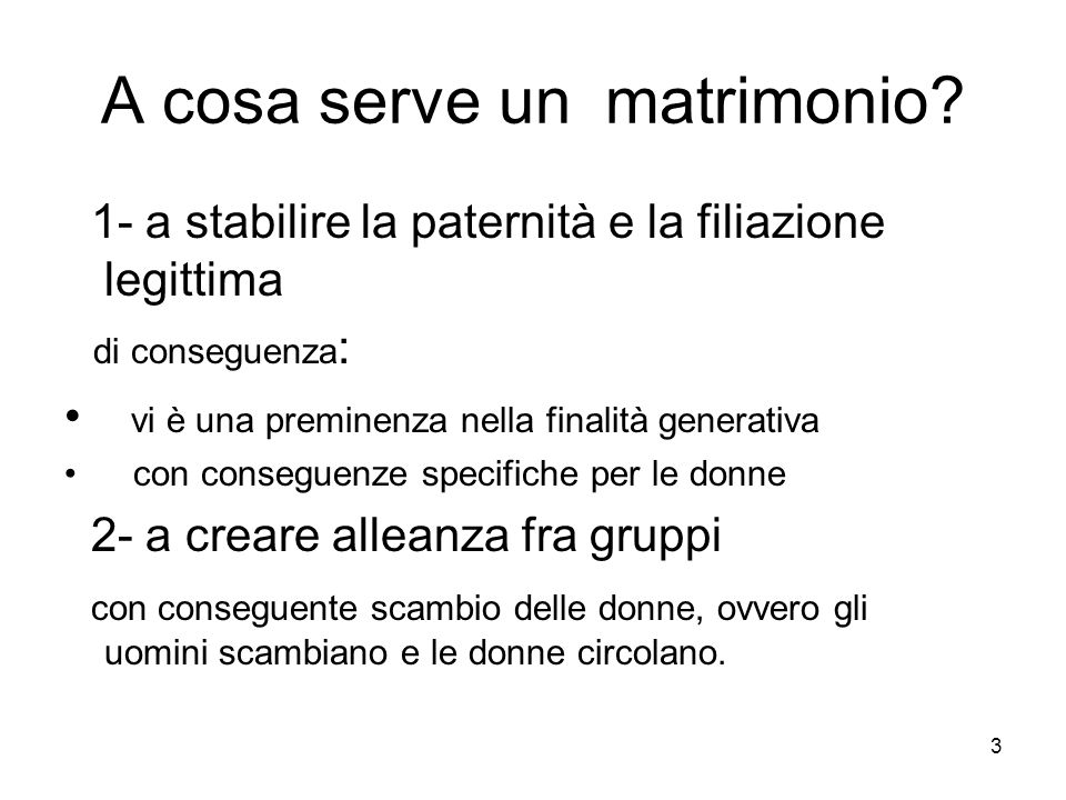A cosa serve un matrimonio