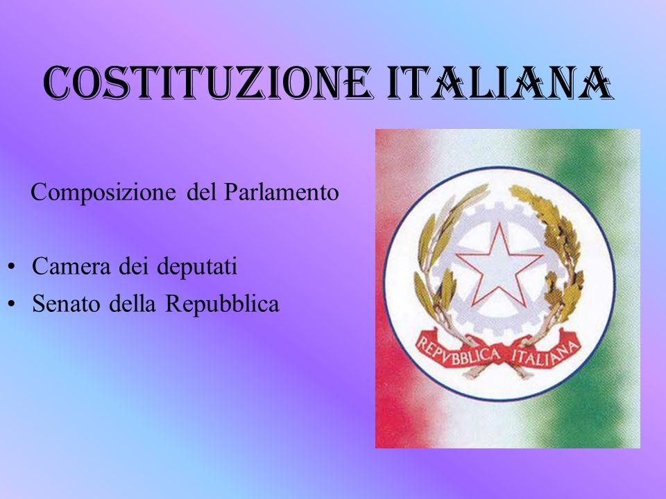 Costituzione italiana ppt scaricare for Composizione della camera dei deputati