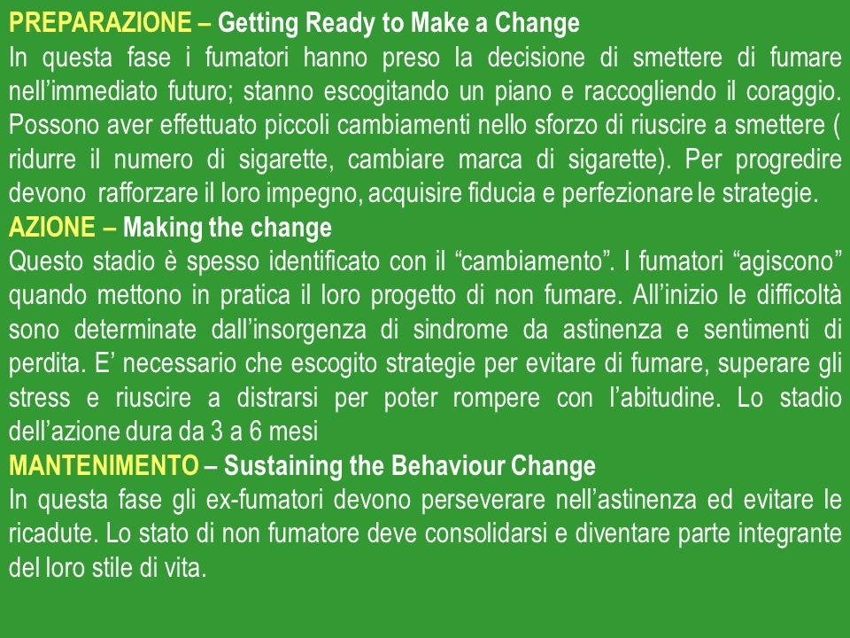PREPARAZIONE – Getting Ready to Make a Change