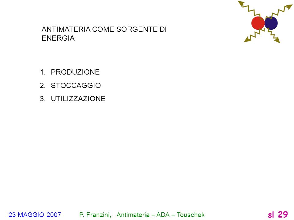 ANTIMATERIA COME SORGENTE DI ENERGIA